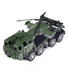 Игрушка Нордпласт Машина Military - Тягач ЩИТ с вертолетом