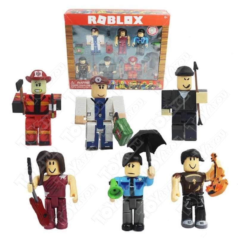 Фигурки Жители Роблокса 6 героев +8 аксессуаров (Citizens Of Roblox)