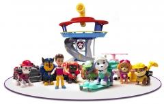 Комплект Щенячий Патруль (Paw Patrol) - Большой офис спасателей + Команда из 8 героев с машинками