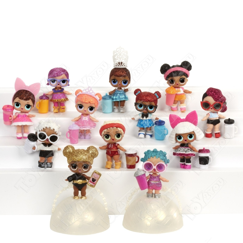 Кукла-сюрприз LOL в шарике серия 8 Confetti Pop - набор из 6 шариков
