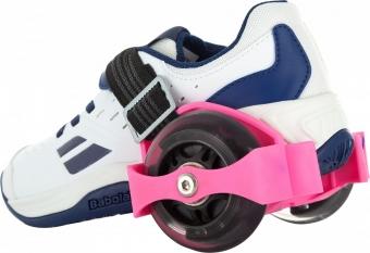 Ролики на обувь розовые