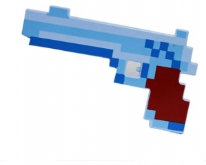 Пистолет майнкрафт (свет, звук)