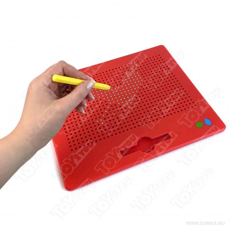 Магнитный планшет 714 ячеек 32см х 26см Magnetic creative drawing board