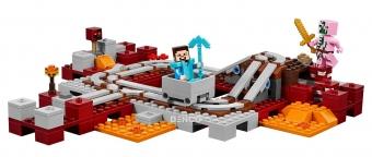 Конструктор MY World Подземная Железная дорога Майнкрафт 21130 BELA 10620(399 детали)