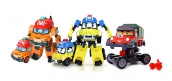 Набор трансформеров Робокар Поли (Robocar Poli) - 3 новых героя
