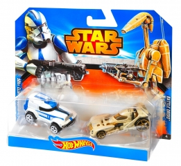 Набор CGX07 CGX02 Базовых машинок Серия Star Wars Hot Wheels