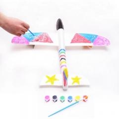Самолет - Планер из пенопласта с красками