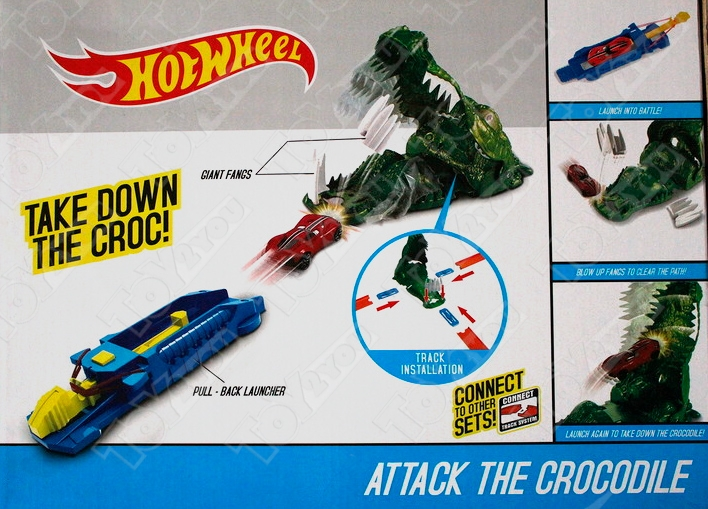 Трек Hot Wheels Атака крокодила