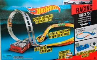 Трек Hot Wheel с электропускателем + 2 машинки