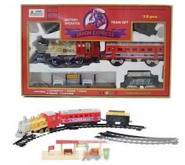 Электрическая железная дорога  музыкальная с дымом - 7013