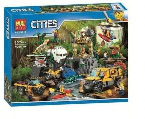 Конструктор Сити База исследователей джунглей 857 деталей (60161 City 10712)