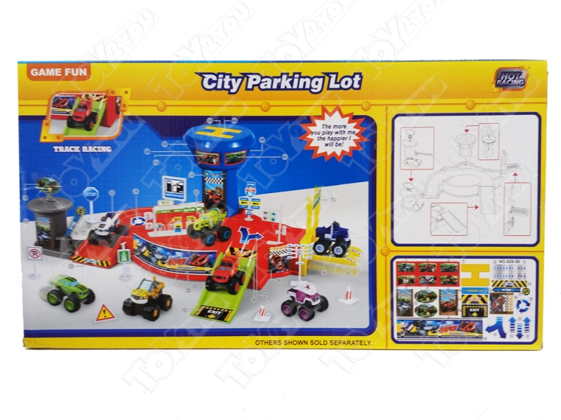 Вспыш и Чудо-машинки Игровой набор Большая городская парковка