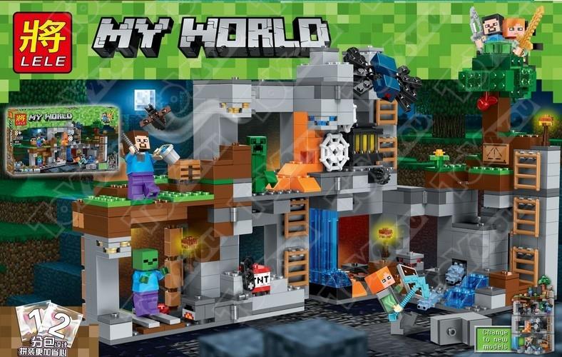 Конструктор MY World Пещера Майнкрафт 21147 33228(664 детали)
