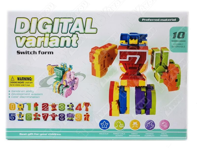 Трансботы Набор Роботы цифры от 0 до 9