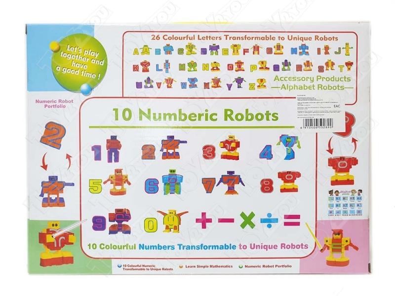 Трансботы Набор Роботы цифры от 0 до 9 + знаки