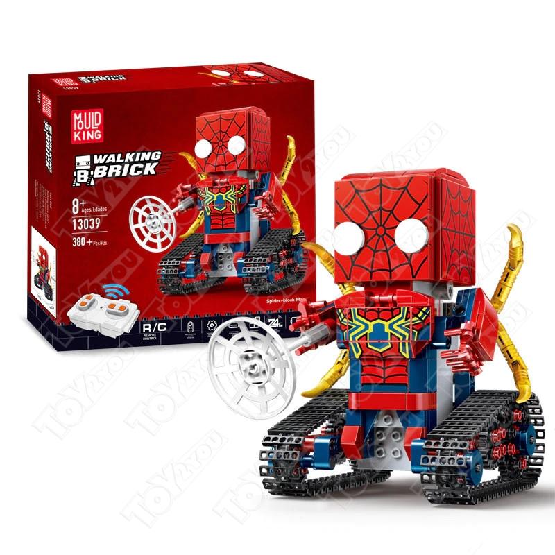 Конструктор Техникс Брикхеад Спайдер Мен 41497 Mould King SpiderMan 13039 (380 деталей) с ПДУ