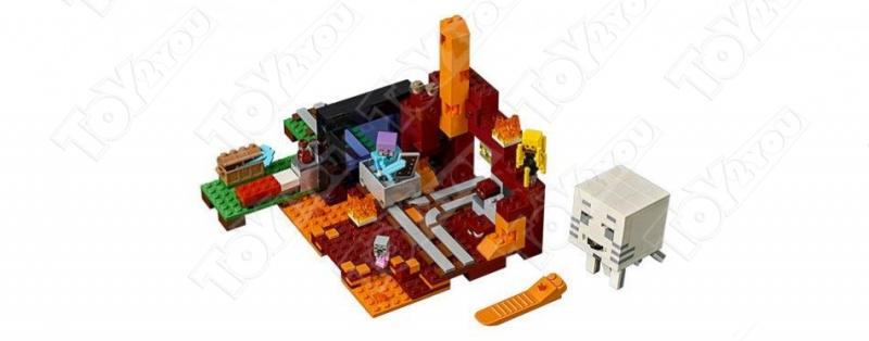 Конструктор Майнкрафт Портал в подземелье 21143 JLB NO.3D70 (433 детали)
