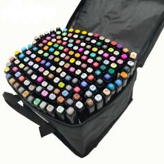 Набор двухсторонних маркеров для скетча 204 шт черные в чехле