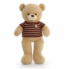 Мягкая игрушка Большой бежевый Медведь в свитере 100 см