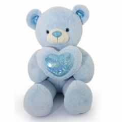 Мягкая игрушка Большой Медведь серо-голубой с сердцем 120 см