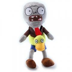 Мягкая игрушка Plants vs Zombies Зомби с кругом уточка 30 см